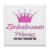 Zimbabwean Princess Tile Coaster