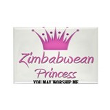 Zimbabwean Princess Rectangle Magnet (10 pack)