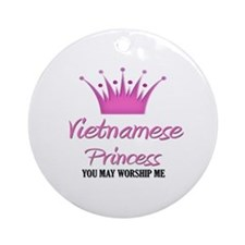 Vietnamese Princess Ornament (Round)