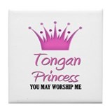 Tongan Princess Tile Coaster