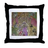 Queen Sheba..King Solomon Throw Pillow