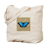 Blue Butterfly 2 Tote Bag