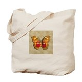 Red Butterfly 3 Tote Bag