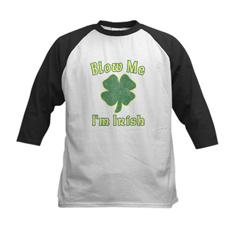 Blow Me I'm Irish Kids Baseball Jersey
