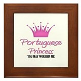 Portuguese Princess Framed Tile
