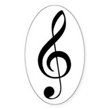 G Clef Oval Decal