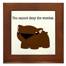 Wombat Framed Tile