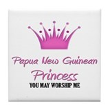 Papua New Guinean Princess Tile Coaster