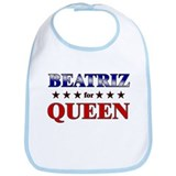 BEATRIZ for queen Bib
