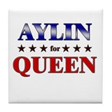 AYLIN for queen Tile Coaster