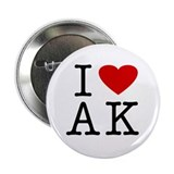I Love Alaska (AK) Button