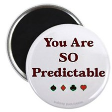 "Poker Predictable 2.25"" Magnet (10 pack)"