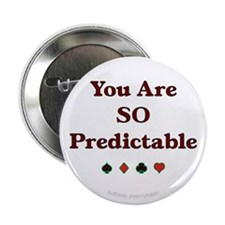 "Poker Predictable 2.25"" Button (10 pack)"