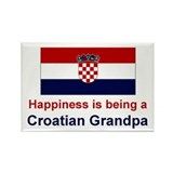 Happy Croatian Grandpa Rectangle Magnet