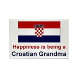 Happy Croatian Grandma Rectangle Magnet