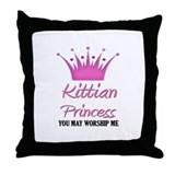 Kittian Princess Throw Pillow