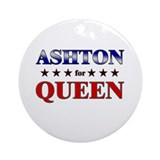 ASHTON for queen Ornament (Round)