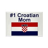 #1 Croation Mom Rectangle Magnet