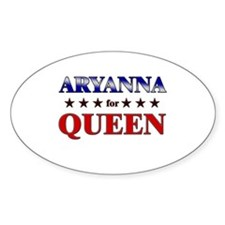 ARYANNA for queen Oval Decal