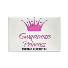 Guyanese Princess Rectangle Magnet