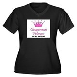 Guyanese Princess Women's Plus Size V-Neck Dark T-