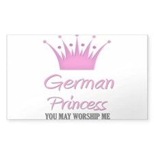 German Princess Rectangle Decal