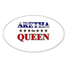 ARETHA for queen Oval Bumper Stickers