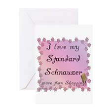 Std. Schnauzer Shopping Greeting Card