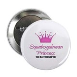 "Equatoguinean Princess 2.25"" Button (10 pack)"