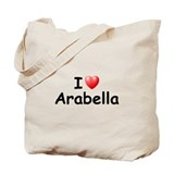 I Love Arabella (Black) Tote Bag