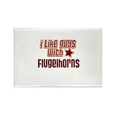 I like guys with Flugelhorns Rectangle Magnet