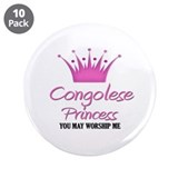 "Congolese Princess 3.5"" Button (10 pack)"