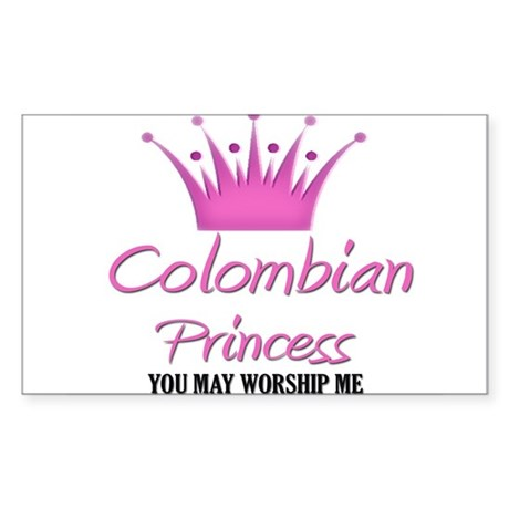 Colombian Princess Rectangle Sticker