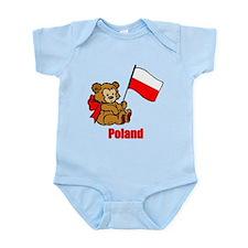 Poland Teddy Bear Infant Bodysuit