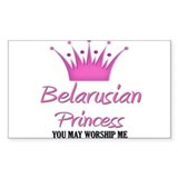 Belarusian Princess Rectangle Decal