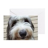 Smile Old English Sheepdog Greeting Card