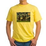 Starry / Black Skye Terrier Yellow T-Shirt
