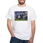 Starry / Black Skye Terrier White T-Shirt