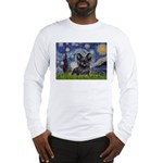 Starry / Black Skye Terrier Long Sleeve T-Shirt
