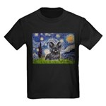 Starry / Black Skye Terrier Kids Dark T-Shirt