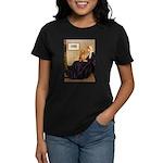 Whistler's /Dachshund(LH-Sabl) Women's Dark T-Shir