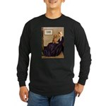 Whistler's /Dachshund(LH-Sabl) Long Sleeve Dark T-