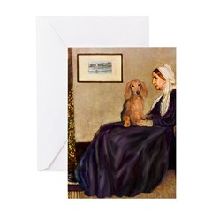 Whistler's /Dachshund(LH-Sabl) Greeting Card