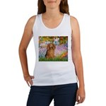 Garden -Dachshund (LH-Sable) Women's Tank Top
