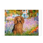 Garden -Dachshund (LH-Sable) Postcards (Package of