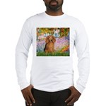 Garden -Dachshund (LH-Sable) Long Sleeve T-Shirt