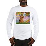 Garden -Dachshund (LH-Sable) Long Sleeve T-Shirt