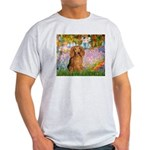 Garden -Dachshund (LH-Sable) Light T-Shirt
