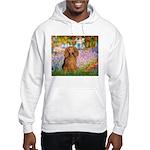 Garden -Dachshund (LH-Sable) Hooded Sweatshirt