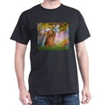 Garden -Dachshund (LH-Sable) Dark T-Shirt